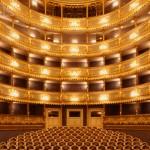 Interior of Estates Theatre Prague Opera